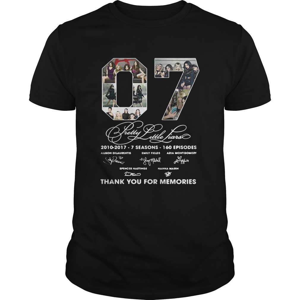 07 Pretty Little Liars Thank You For Memories Unisex