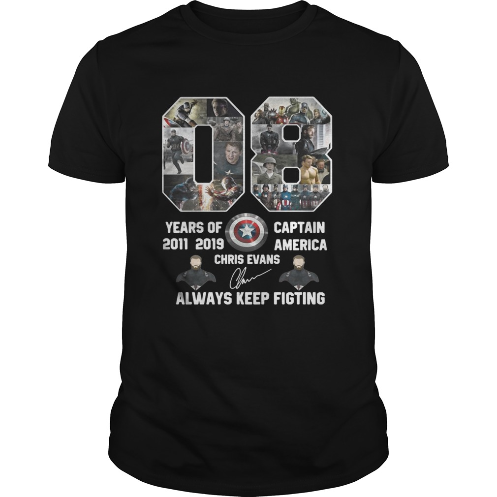 08 Years Of Captain America 2011 2019 Chris Evans Signature Unisex