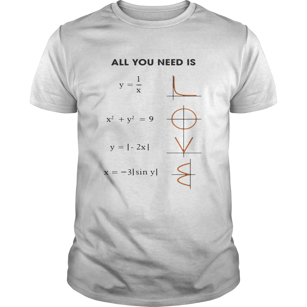 All You Need Is Love Math Unisex