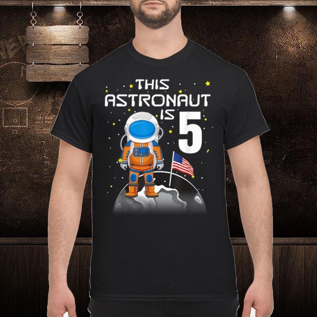 Awesome Kids 5Th Birthday Astronaut One Step Boys 5 Year Ol