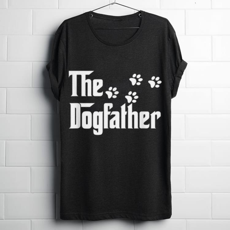 Awesome The Dogfather Dog Paws Shirt