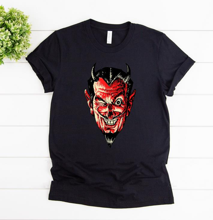 Hot Vintage Halloween Red Devil Head Shirt