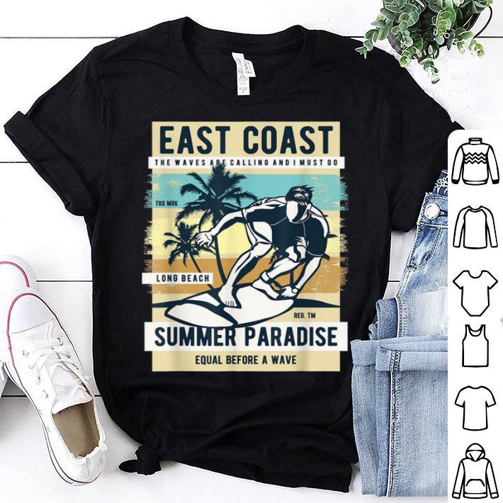 Mens East Coast Summer Paradise Beach Vacation Shirt