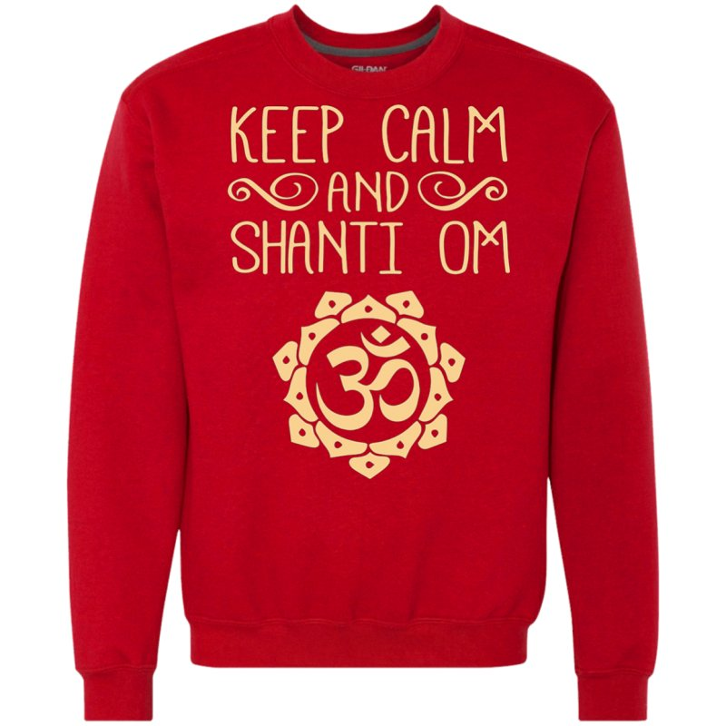 Quotkeep Calm And Shanti Omquot Meditation Amp Yoga Tshirt